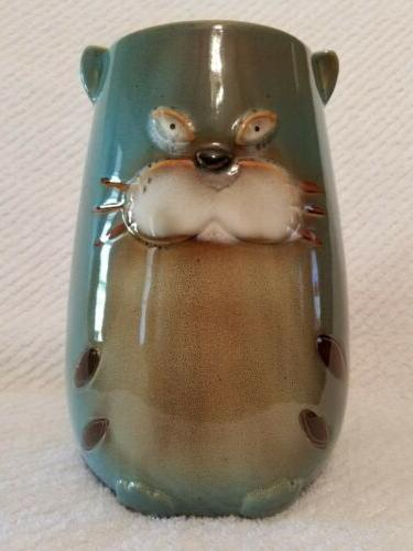 kool cat utensil holder ceramic 8 tall