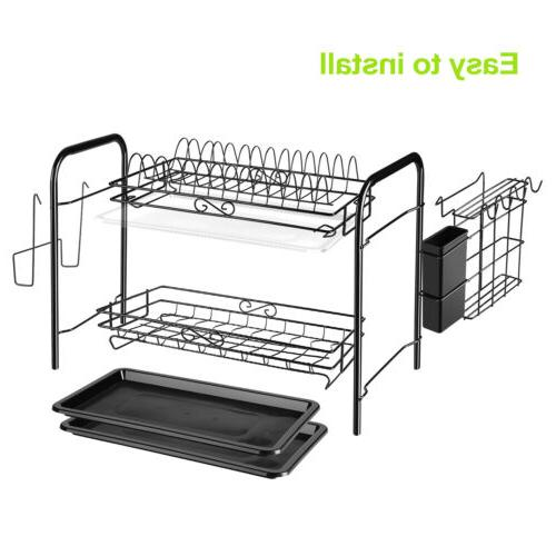 Large Capacity Rack 2 Holder Drainer Storage
