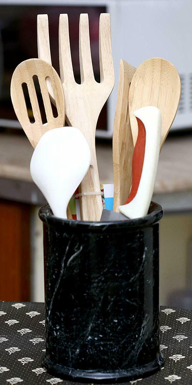 Handmade Marble Spatula Countertop Utensil Holders Caddy