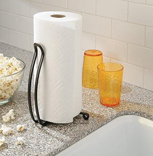 Stand Dispenser, Freestanding Vertical Standard and Jumbo-Sized Rolls - for Countertop, Laundry/Utility -