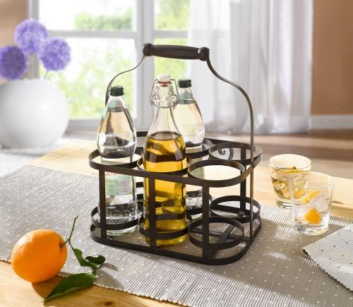 6-Bottle Metal Caddy Handle Product