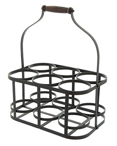 6-Bottle Metal Caddy Holder with Handle Product HD222048
