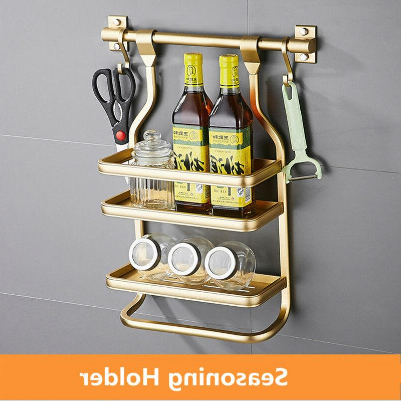 Modern Gold Kitchen Utensils Spice Rack