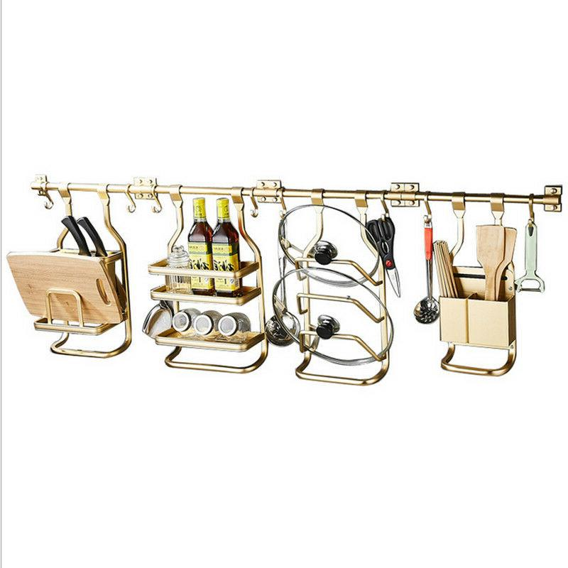 modern design wall mount gold kitchen utensils