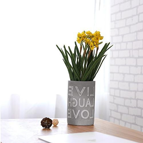 Modern Clay Vase with LIVE LAUGH
