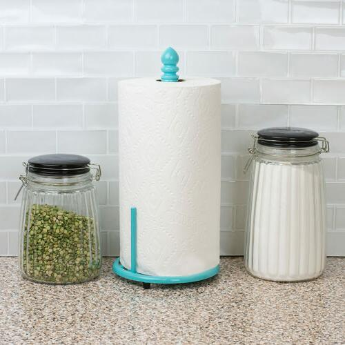 Home Basics Moroccan Collection Holder, Turquoise, 13.5x6.5x