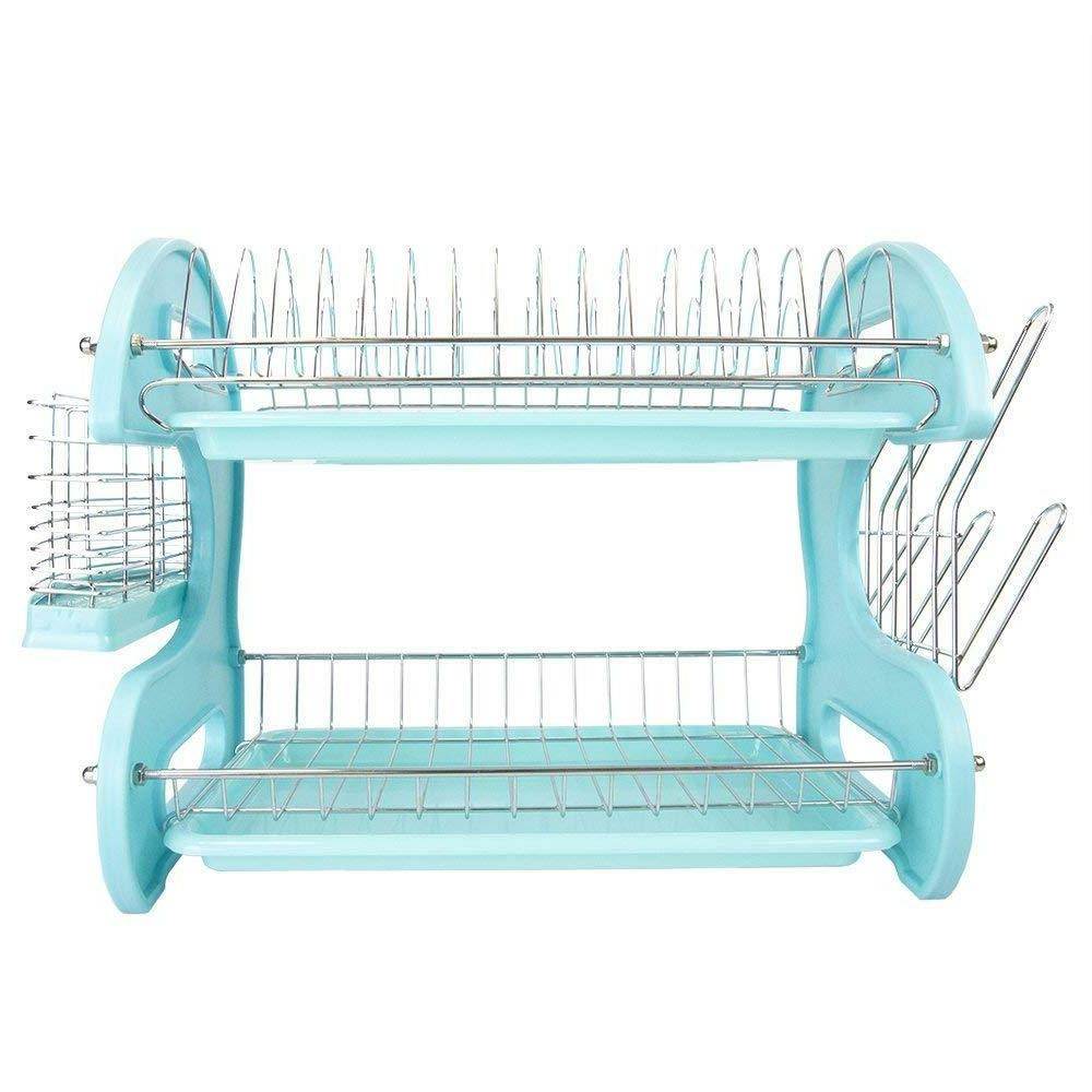New Home Plastic Dish Drainer Turquoise