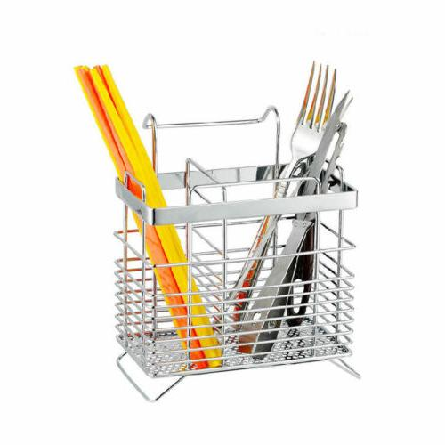 new silver stainless steel cutlery holder