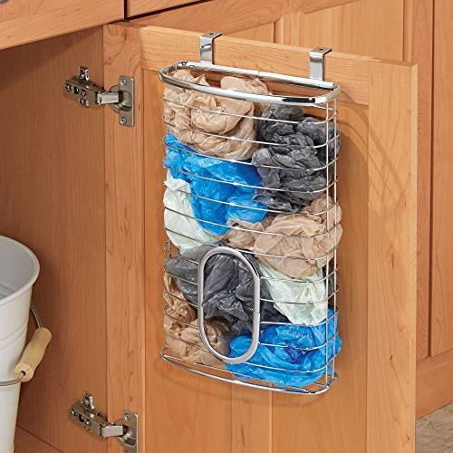 mDesign Kitchen Holder or Over Kitchen/Pantry to 50 Plastic Bags -