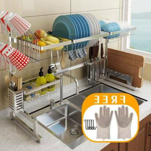 over the sink dish drying rack drainer