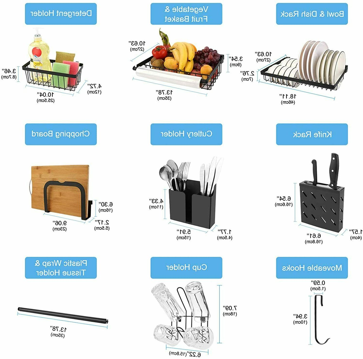 Over The Dish Drying Rack, Stainless Large Dishes Kitchen