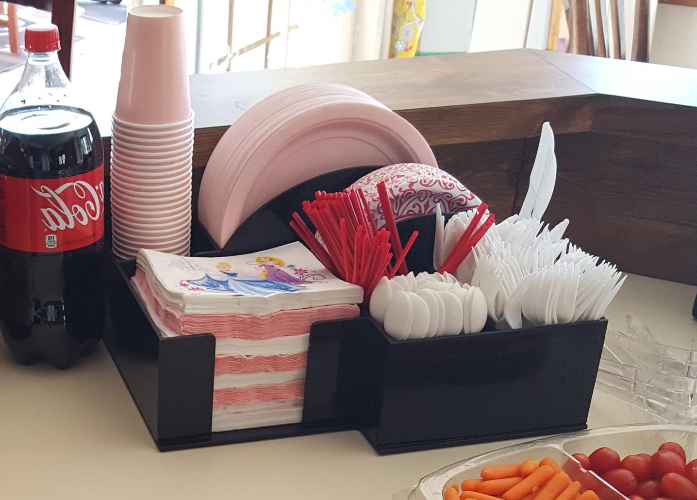 paper plate bowl cup dispenser