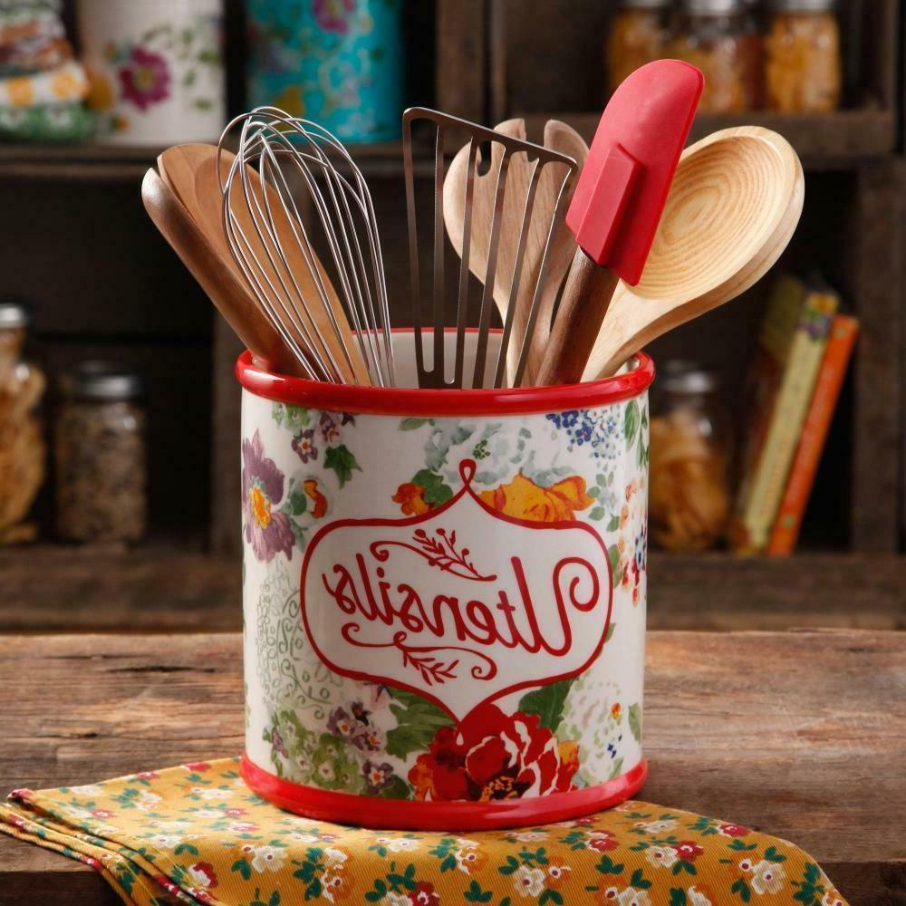 pioneer woman stoneware country garden floral utensil