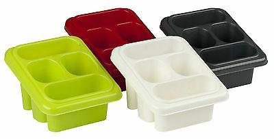 plastic 4 section cutlery and utensil drainer