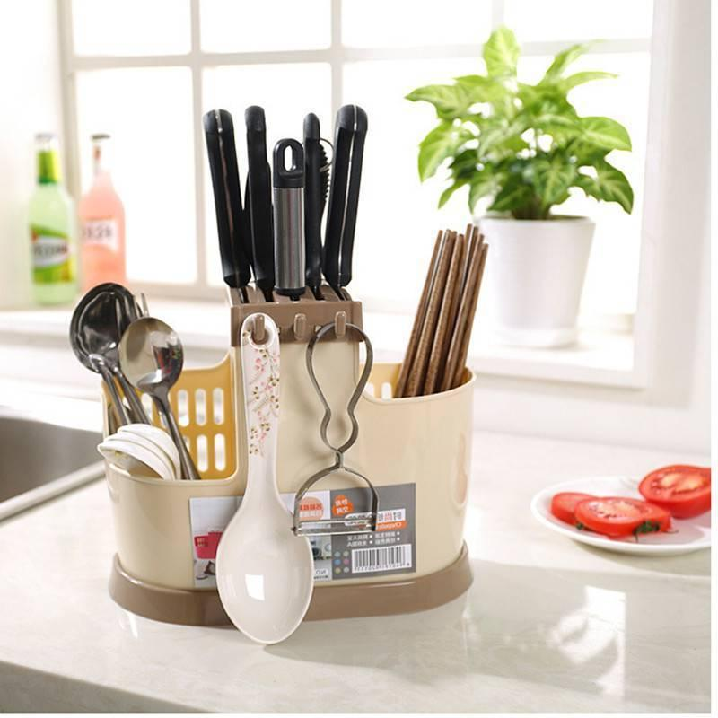 Plastic Draining Cutlery Chopsticks Storage Kitchen