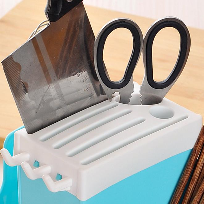 Plastic Rack Cage Cutlery Utensil Holder Storage Box Kitchen