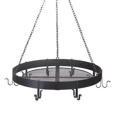 hanging pots and pans rack cast iron