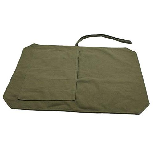 Knife Case Bag Roll Utensil Compartment Green