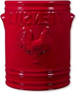 """Home Essentials Rooster Red 7""""H Utensil Holder"""