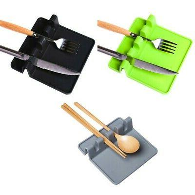 Silicone Resistant Spoon Rest Holder Tray