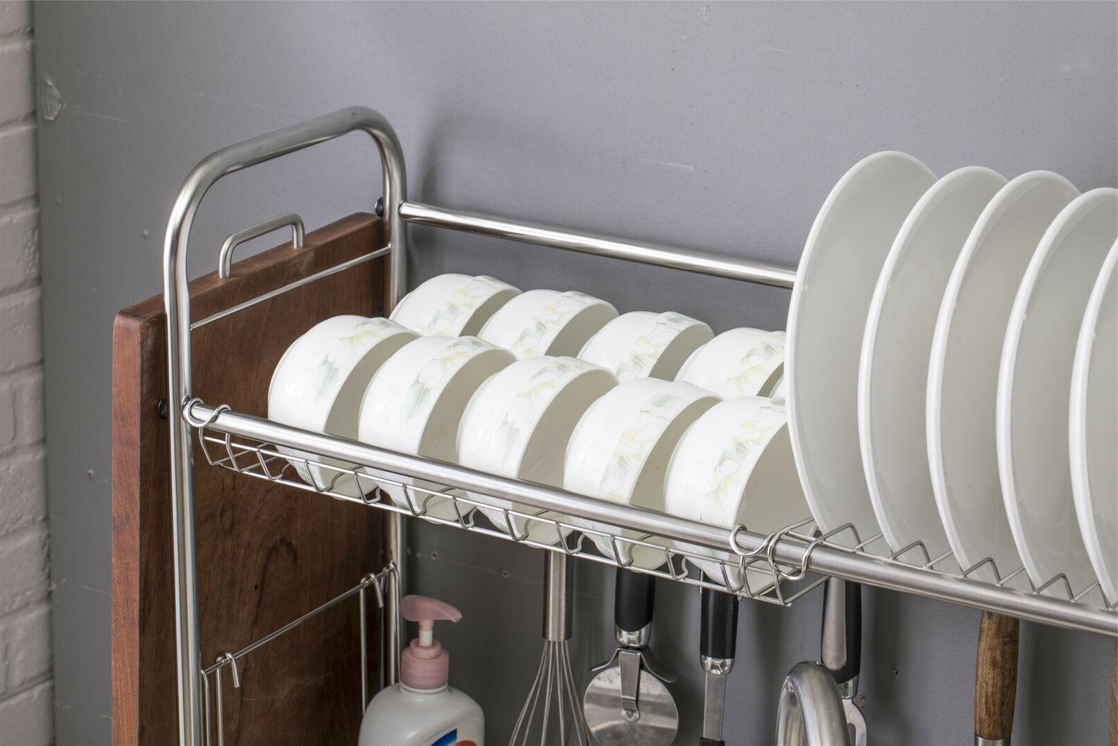 Single Dish Racks Over Sink Drying with