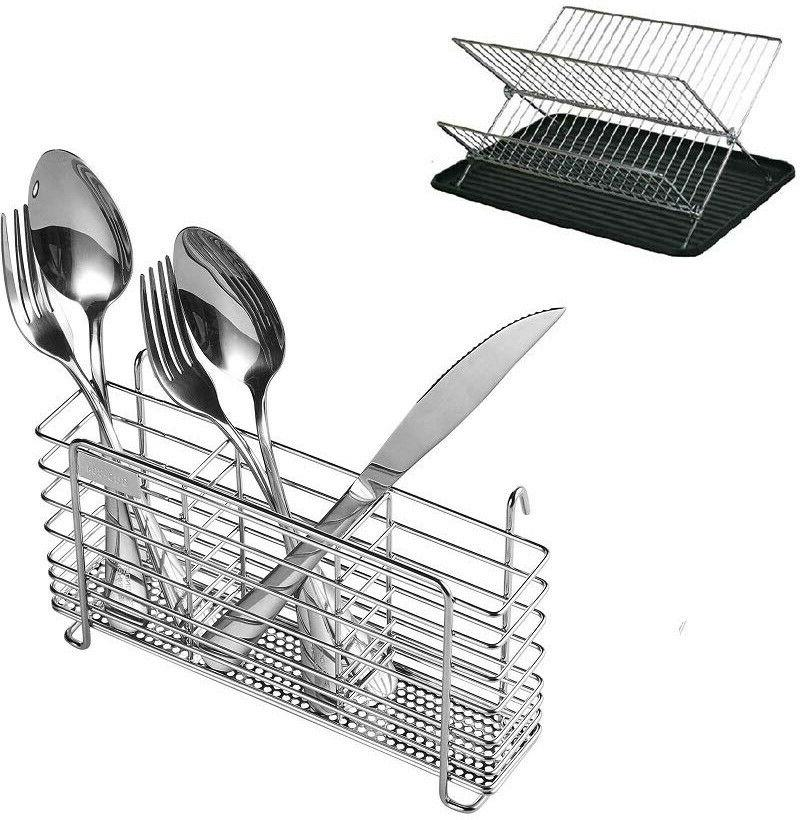 Stainless Steel Rack Holder Compartment For Spoon
