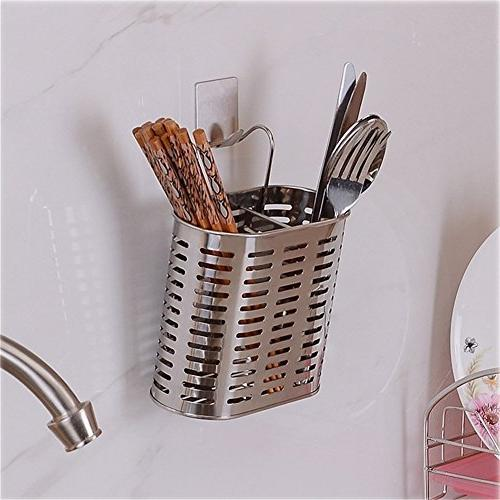 Simonshop Stainless Steel Cutlery Draining Metal Hanging Kitchen Gadgets