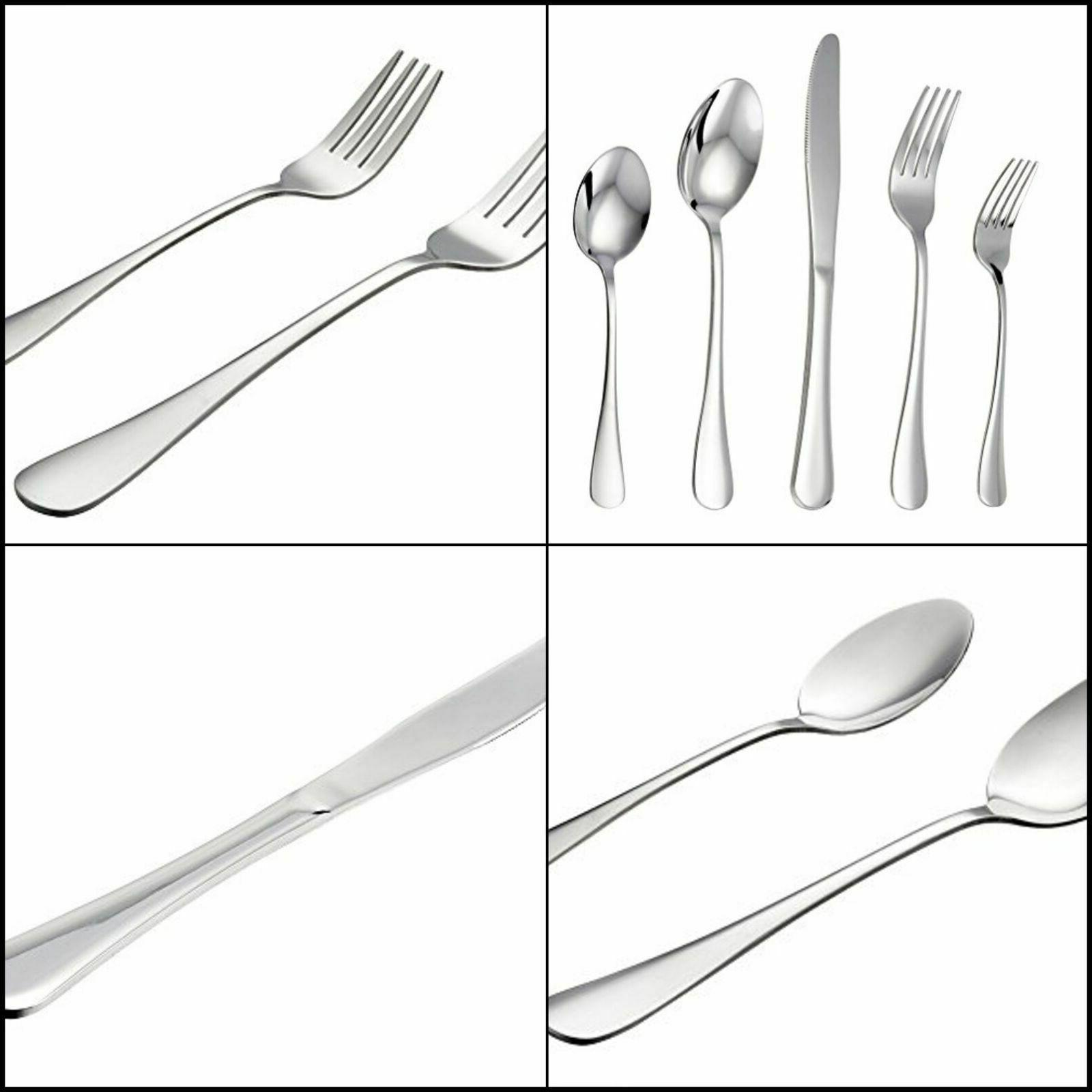 stainless steel flatware silverware set