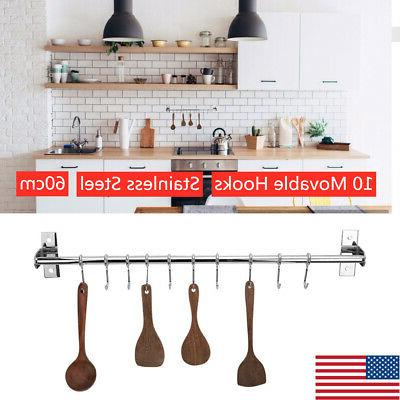 stainless steel kitchen rail rack wall mounted