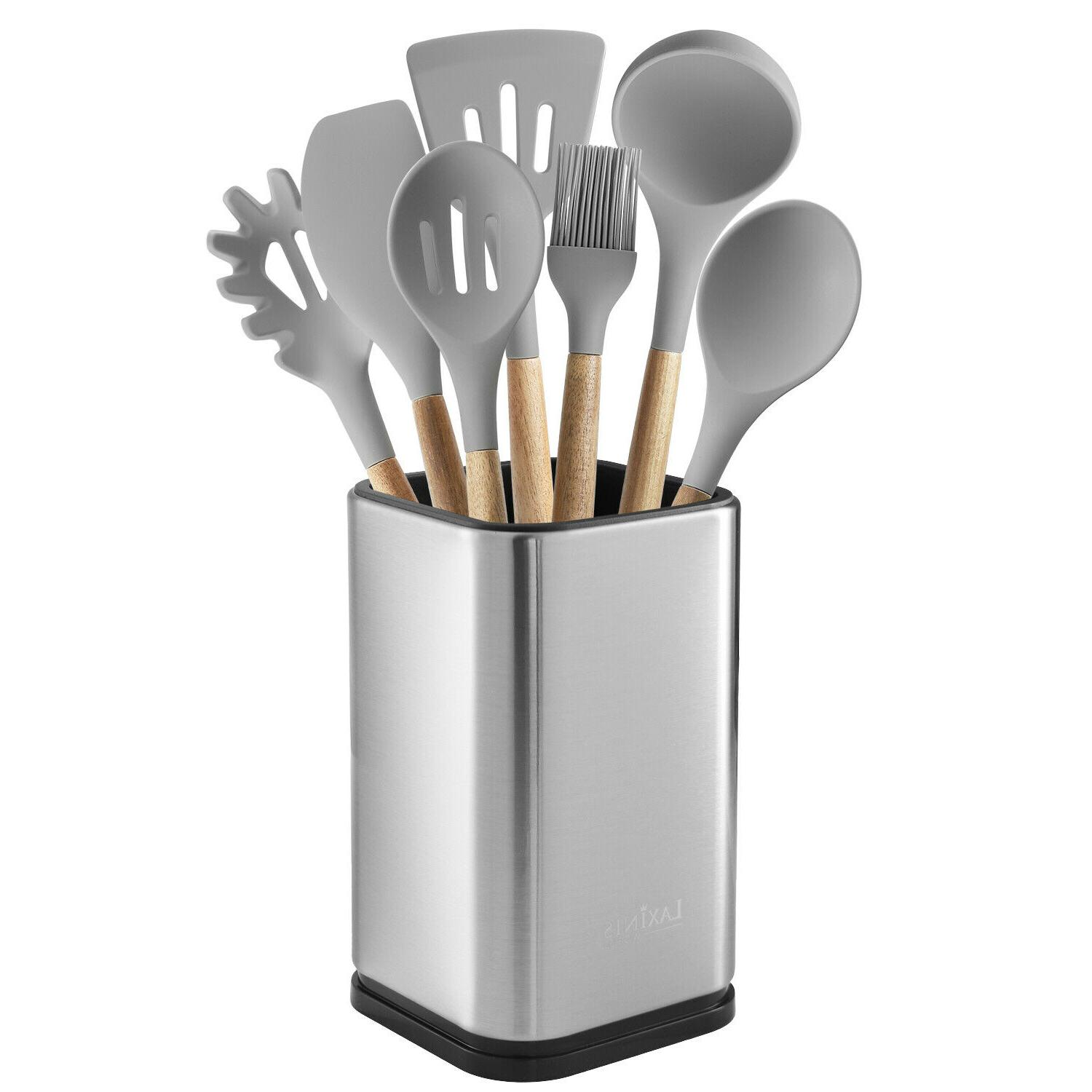 stainless steel kitchen utensil holder, kitchen caddy, utensil