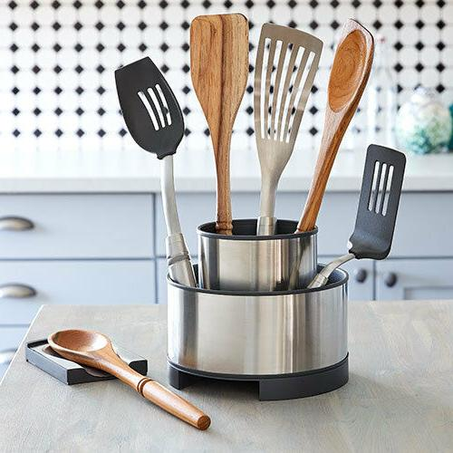 Pampered Chef Stainless Rotating Utensil