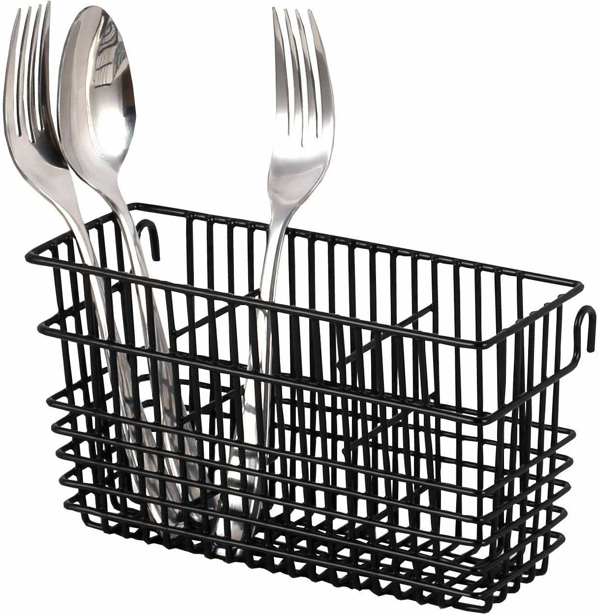 sturdy utensil drying rack basket