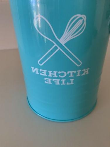 """Turquoise """"Kitchen And Cooking Utensils"""