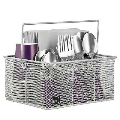 Mindspace Utensil Caddy, Silverware & Condiment Organizer, N