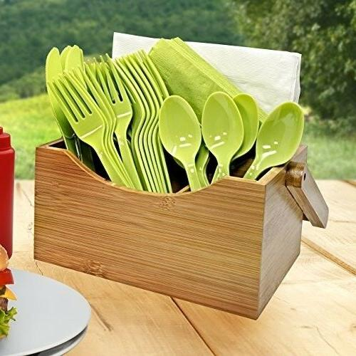 Utensil Cutlery Storage Wooden Handle Display