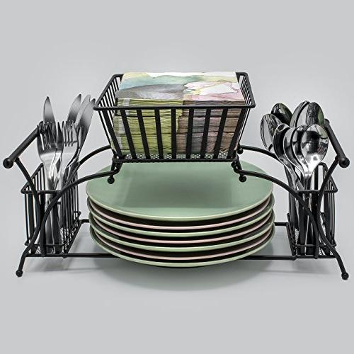 Sorbus Utensil Use Plate Flatware Caddy, — Ideal for Table, Entertaining