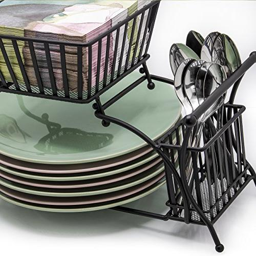 Sorbus Utensil Plate Flatware Caddy, — Ideal Table, Party, Buffet, Kitchen, Entertaining