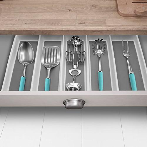 Sorbus Drawer Organizer, Expandable Cutlery for Serving Multi-Purpose Storage for Office,