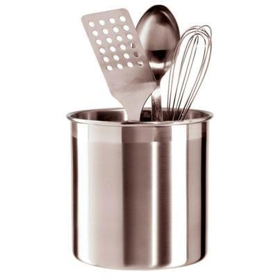 utensil holder brushed stainless steel