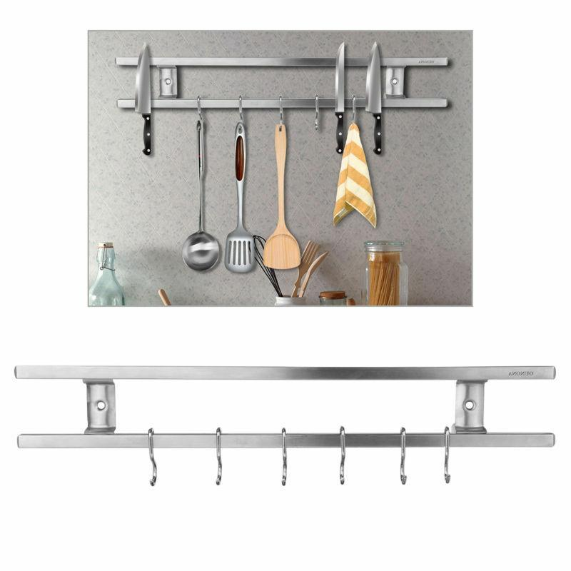 wall mount magnetic knife storage holder rack