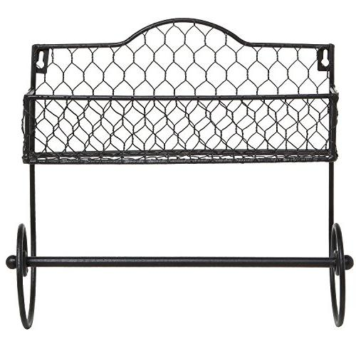 MyGift Black Rack & Towel Bar