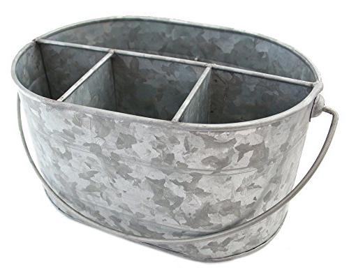 "Galvanized 10"" Decor Serveware Utensil Picnic Napkin Metal Rustic Parties, Picnics, Kitchens,"