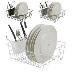 Large Metal Dish Plate Utensil Drainer Rack Kitchen Washing