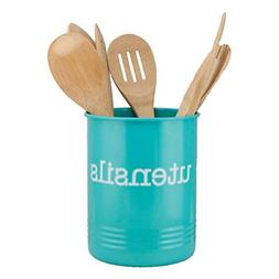 Large Turquoise Utensil Holder Teal Kitchen Accessories Orga