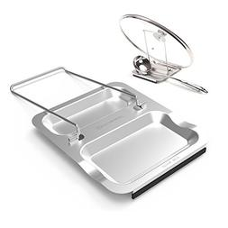 Lid Holder and Spoon Rest - Foldable for Easy Storage| Anti-