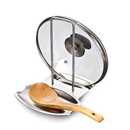 Kaxich Lid and Spoon Rest Stainless Steel Pan Pot Lid Spoon