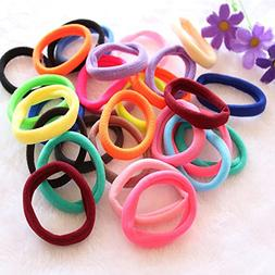 50 pcs lowest price Girl Elastic Hair Ties Band Rope Ponytai