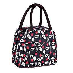 New Boss Lunch Bag,Reusable Leaves Pattern Lunch Box Tote Ba