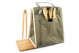 Crate Collective Insulated Lunch Bag - with Bamboo Utensil S