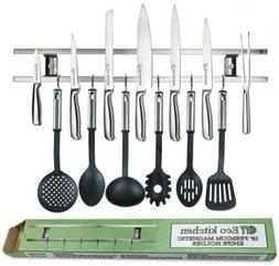 ECO KITCHEN 18 Inch Stainless Steel Magnetic Knife Holder -